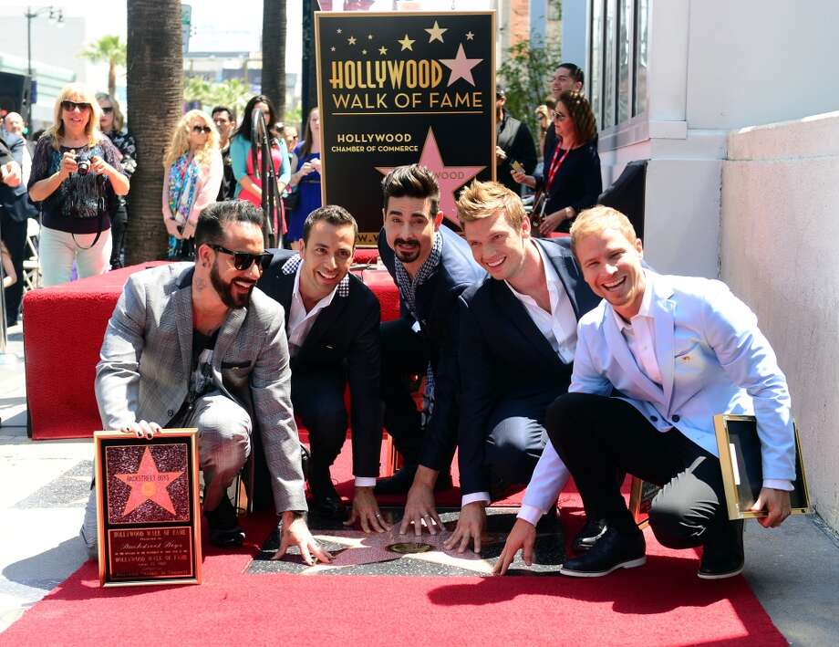The Backstreet Boys celebrate their 20-year career with a Star on the Hollywood Walk of Fame in Hollywood, California, on April 22, 2013.  Two decades into their career, L-R: AJ McLean, Brian Littrell, Howie Dorough, Kevin Richardson and Nick Carter received the 2,495th Star in the Category of Recording on Hollywood Boulevard near the Live Nation Building.    AFP PHOTO/Frederic J. BROWNFREDERIC J. BROWN/AFP/Getty Images