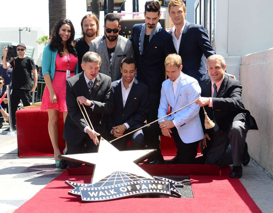 The Backstreet Boys celebrate their 20-year career with a Star on the Hollywood Walk of Fame in Hollywood, California, on April 22, 2013.  Two decades into their career, AJ McLean, Brian Littrell, Howie Dorough, Kevin Richardson and Nick Carter received the 2,495th Star in the Category of Recording on Hollywood Boulevard near the Live Nation Building.    AFP PHOTO/Frederic J. BROWNFREDERIC J. BROWN/AFP/Getty Images
