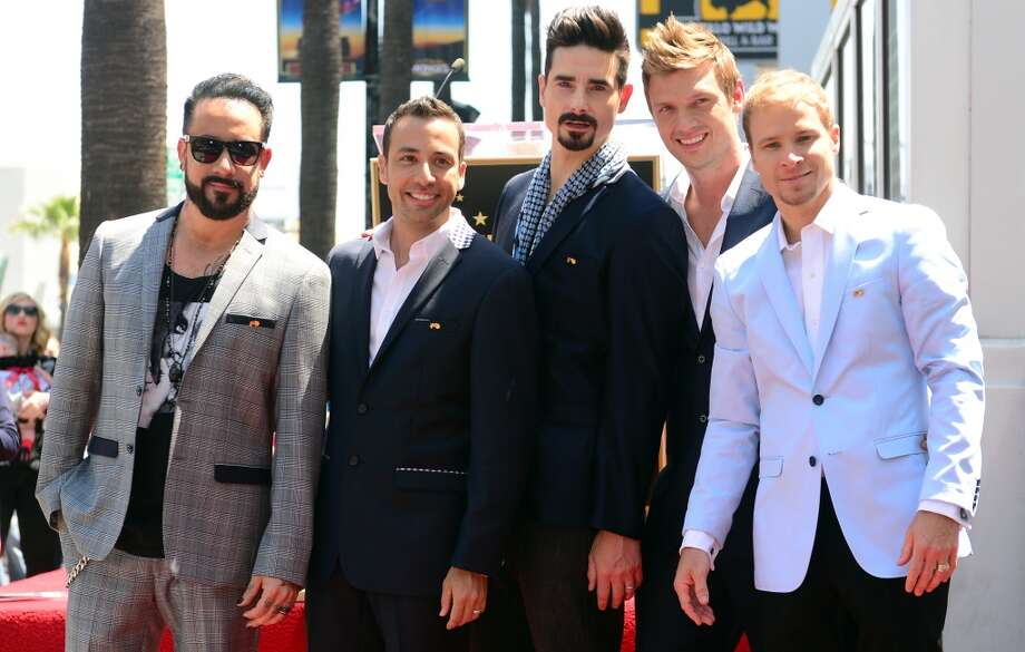 The Backstreet Boys celebrate their 20 year career with a Star on the Hollywood Walk of Fame in Hollywood, California, on April 22, 2013.  Two decades into their career, AJ McLean, Brian Littrell, Howie Dorough, Kevin Richardson and Nick Carter received the 2,495th Star in the Category of Recording on Hollywood Boulevard near the Live Nation Building. AFP PHOTO/Frederic J. BROWNFREDERIC J. BROWN/AFP/Getty Images