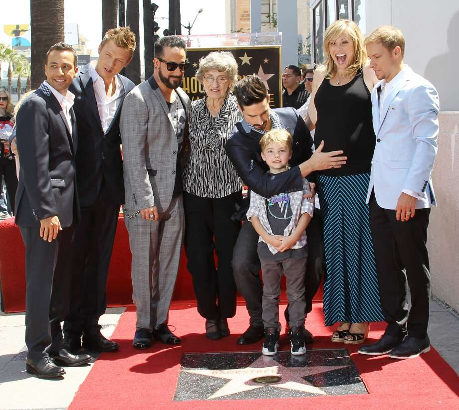 HOLLYWOOD, CA - APRIL 22:  AJ McLean, Nick Carter, Brian Littrell , Howie Dorough and Kevin Richardson of Backstreet Boys attend the ceremony honoring the Backstreet Boys with a Star on The Hollywood Walk of Fame held on April 22, 2013 in Hollywood, California.  (Photo by Michael Tran/FilmMagic)