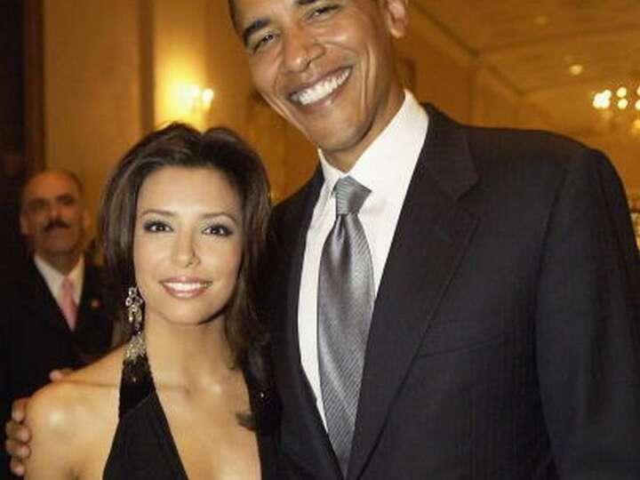 Eva Longoria and President Obama