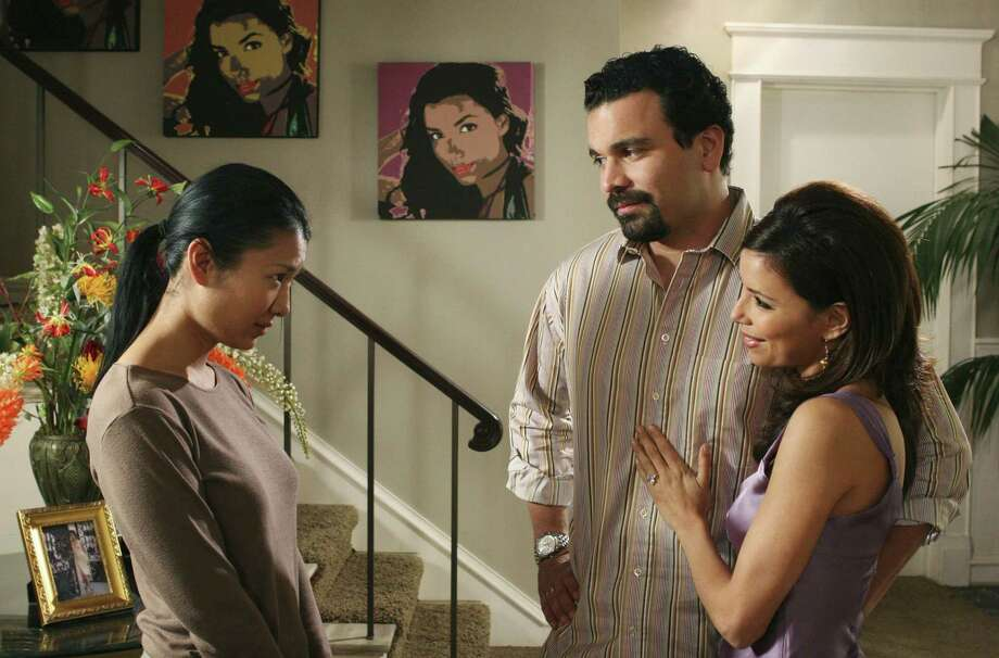 Gwendoline Yeo (from left), Ricardo Antonio Chavira and Eva Longoria of 'Desperate Housewives.' Photo: ABC