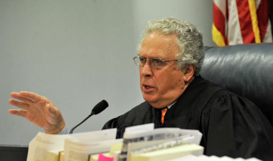 Judge Thomas Bishop addresses the attorneys at Michael Skakel's habeas corpus trial at State Superior Court in Vernon, Conn., on Monday, April 22, 2013. Photo: Jason Rearick / Stamford Advocate