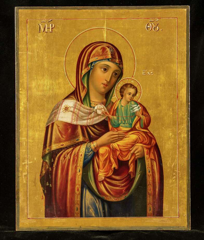 """Our Lady of the Doves"" is included in ""Windows into Heaven: Russian Icons & Treasures"" at the Knights of Columbus Museum in New Haven. Photo: Contributed Photo / Connecticut Post Contributed"