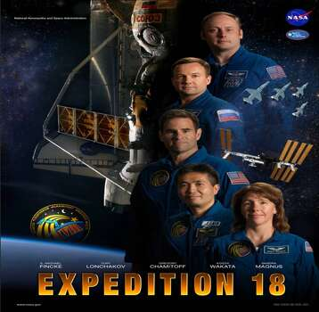 Expedition 18 - Commander E. Michael Fincke, Flight Engineer Yury V. Lonchakov and spaceflight participant Richard Garriott launched to the station on Oct. 12, 2008. Gregory E. Chamitoff, Sandra H. Magnus and Koichi Wakata served as flight engineers during Expedition 18.