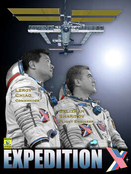 Expedition 10 -  Commander Leroy Chiao and Flight Engineer Salizhan Sharipov began their mission aboard the International Space Station in October 2004. They returned to Earth in April 2005.