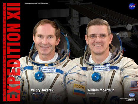 Expedition 12 - Commander William McArthur and Flight Engineer Valery Tokarev served aboard the International Space Station from October 2005 through April 2006. McArthur had visited the station in October 2000 during shuttle mission STS-92.