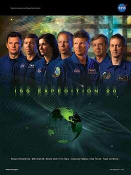 Expedition 20 - Commander Gennady Padalka and flight engineers Michael Barratt, Koichi Wakata, Tim Kopra, Roman Romanenko, Frank De Winne, Robert Thirsk and Nicole P. Stott served aboard the International Space Station as the Expedition 20 crew.