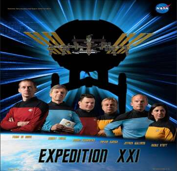 Expedition 21 - ESA Astronaut Frank De Winne, the first European commander of the International Space Station, and flight engineers Robert Thirsk, Roman Romanenko, Nicole Stott, Maxim Suraev and Jeffrey Williams served as the Expedition 21 crew.
