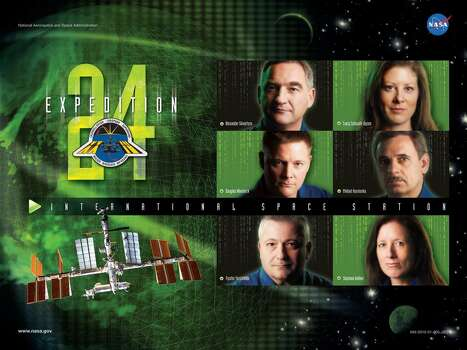 Expedition 24 - Commander Alexander Skvortsov and Flight Engineers Tracy Caldwell Dyson, Mikhail Kornienko, Shannon Walker, Douglas Wheelock and Fyodor Yurchikhin served aboard the International Space Station as the Expedition 24 crew.