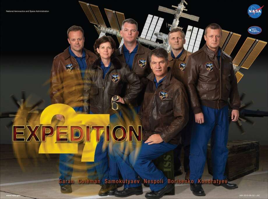 Expedition 27 - Commander Dmitry Kondratyev and Flight Engineers Catherine Coleman, Paolo Nespoli, Alexander Samokutyaev, Andrey Borisienko and Ron Garan served as Expedition 27 aboard the International Space Station.