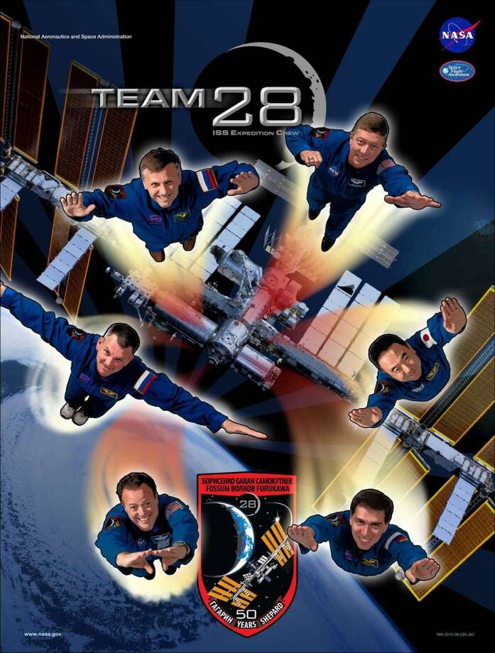Expedition 28 - Commander Andrey Borisenko and Flight Engineers Alexander Samokutyaev, Ron Garan, Sergei Volkov, Mike Fossum and Satoshi Furukawa served as the Expedition 28 crew aboard the International Space Station.