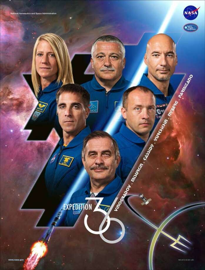 Expedition 36 - Commander Pavel Vinogradov and Flight Engineers Chris Cassidy, Alexander Misurkin, Karen Nyberg, Fyodor Yurchikhin and Luca Parmitano will serve as the Expedition 36 crew aboard the International Space Station.