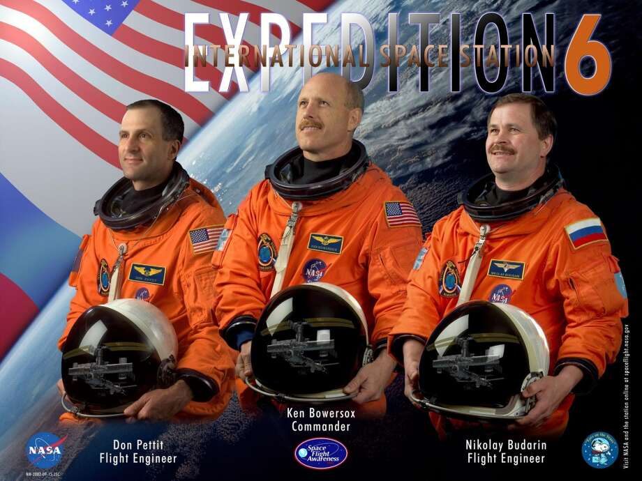 Expedition 6 - Commander Kenneth Bowersox and Flight Engineers Donald Pettit and Nikolai Budarin lived and worked aboard the International Space Station from November 2002 through May 2003. Space Shuttle Columbia and the STS-107 crew were lost in February 2003.