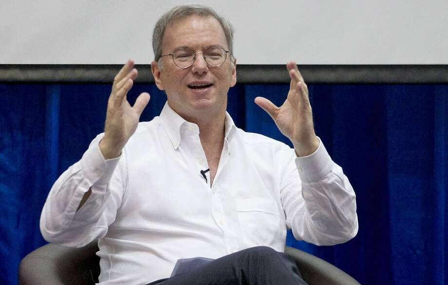 Eric Schmidt was among those to receive a Distinguished Citizen Award from the Commonwealth Club. Photo: Gemunu Amarasinghe, Associated Press