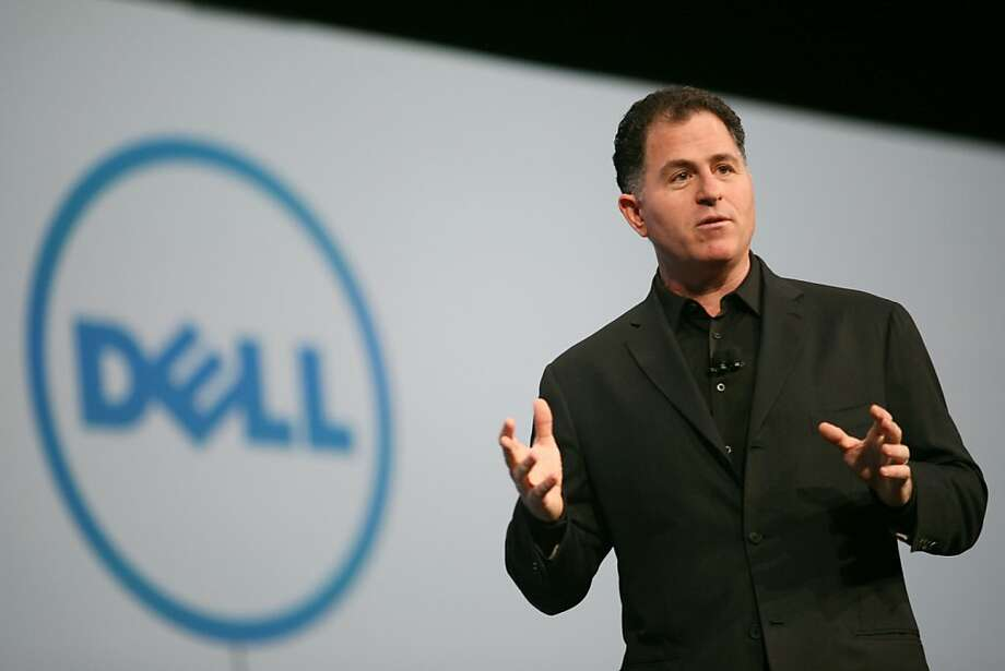 Although Dell's stock has fallen, CEO Michael Dell's firm is a prime candidate for takeover by Silver Lake Partners now that Blackstone has dropped out. Photo: Kimihiro Hoshino, AFP/Getty Images