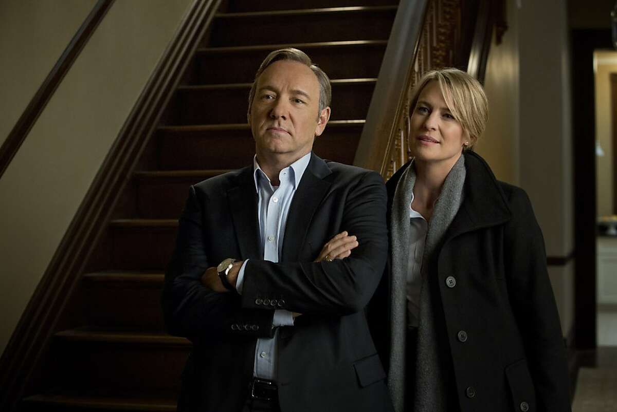 Kevin Spacey and Robin Wright in a scene from Netflix's