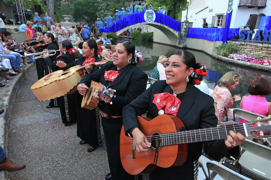 "Mariachi Las Alteñas performs before the Texas Cavaliers River Parade ""Stars on the River"" held Monday April 22, 2013. Photo: Edward A. Ornelas, San Antonio Express-News / © 2012 San Antonio Express-News"