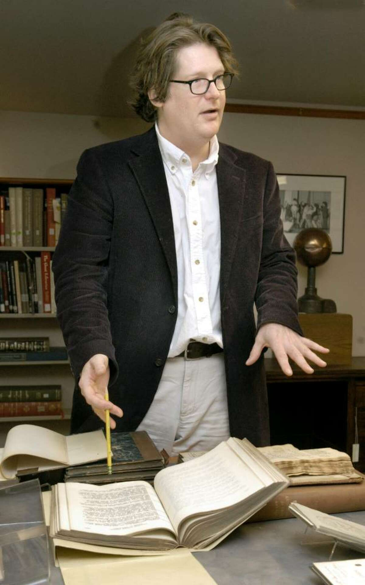 Brian Stevens, archivist for Western Connecticut State University, talks about a collection of books about Connecticut history from the 1800's.