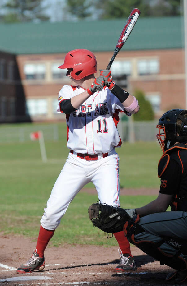 Fort Ann senior star Joe Foran waits for his pitch while at bat in a baseball game against Corinth on Monday, April 22, 2013 in Corinth, N.Y. Foran has signed to play with Siena next year. (Lori Van Buren / Times Union) Photo: Lori Van Buren