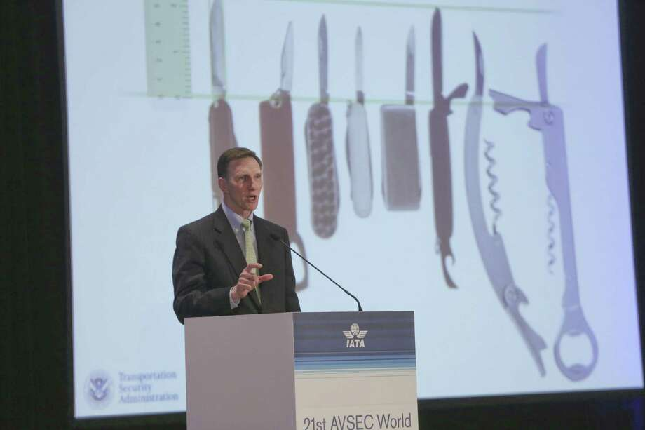 TSA Administrator John Pistole has said it's unlikely that small folding knives could be used by terrorists to take over a plane, thanks to preventative measures after 9/11. Photo: New York Times File Photo