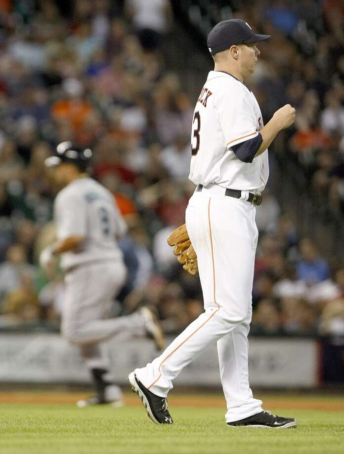 April 22: Mariners 7, Astros 1The   Astros struggles continue as they drop the first game of the series to the Mariners while Felix Hernandez notches his 100th win in the majors.  Record: 5-14. Photo: Nick De La Torre, Houston Chronicle