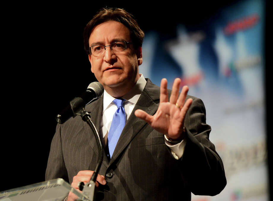 "In this Sept. 25, 2012 file photo, State Rep. Pete Gallego, D-Alpine, speaks during a Spanish-language debate against Republican U.S. Rep. Francisco ""Quico"" Canseco at Palo Alto College in San Antonio, Texas. (AP Photo/The San Antonio Express-News, John Albright, File)  RUMBO DE SAN ANTONIO OUT; NO SALES Photo: John Albright, Associated Press / The San Antonio Express-News"