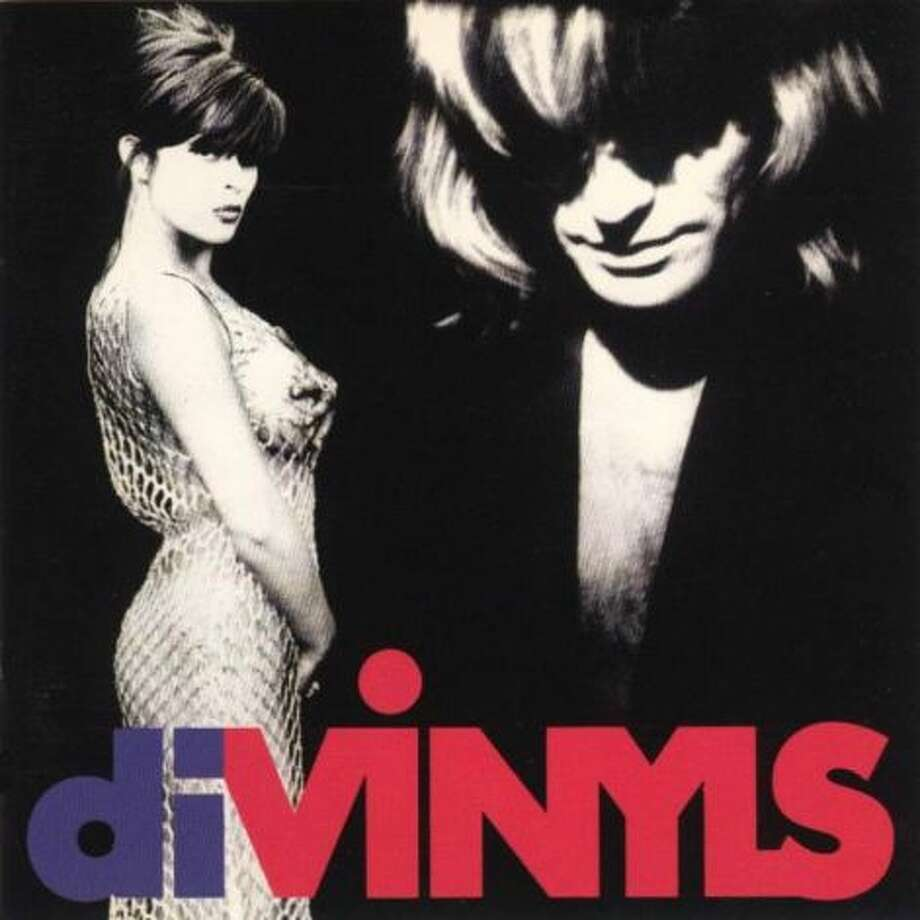 "Chrissy Amphlett in her famous fishnet dress with Mark McEntee on the cover of the 1991 album ""Divinyls,"" which featured ""I Touch Myself."""