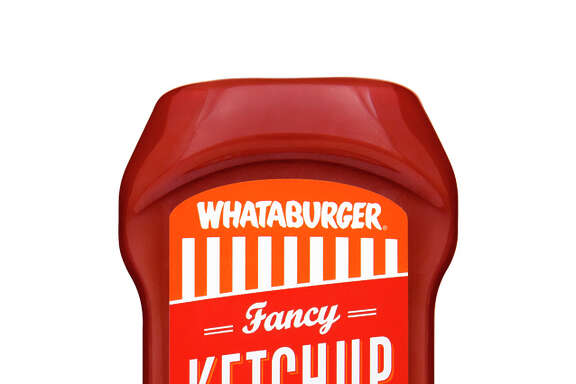 Whataburger will launch into retail sales for the first time by bottling its popular line of condiments   Fancy Ketchup, Spicy Ketchup and Original Mustard   making them available exclusively at all Texas and Mexico H-E-B stores this summer. Shown in the picture is Whataburger Fancy Ketchup.