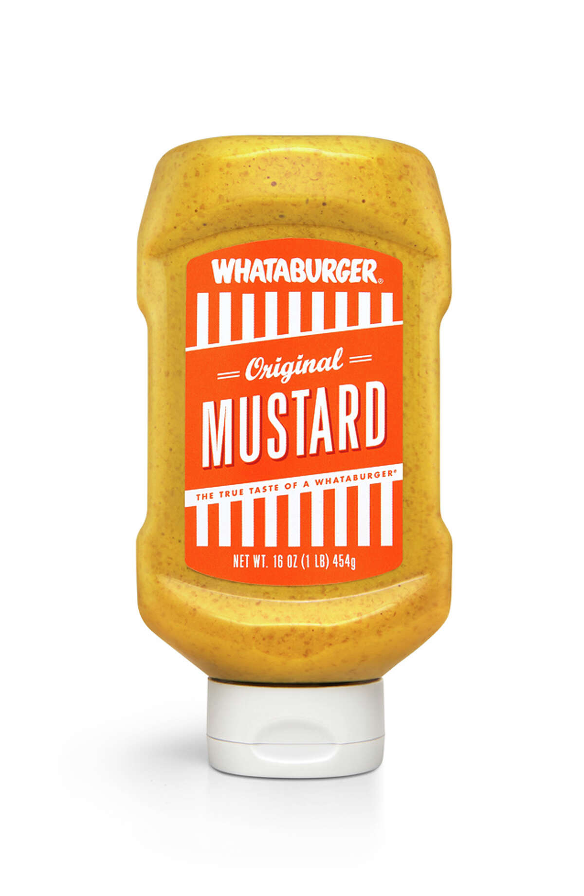 Whataburger will launch into retail sales for the first time by bottling its popular line of condiments Fancy Ketchup, Spicy Ketchup and Original Mustard making them available exclusively at all Texas and Mexico H-E-B stores this summer. Shows in the picture is Whataburger Original Mustard.