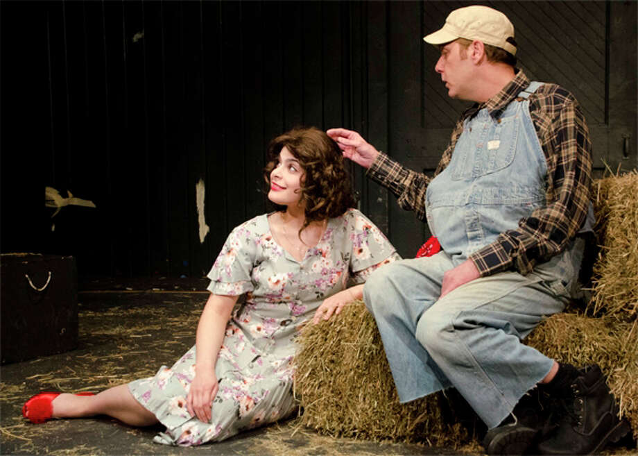 "Brian Michael Riley and Lynnette Victoria star in the Town Players of New Canaan production of ""Of Mice and Men,"" which opens on Frday, May 3, at the Powerhouse Theatre in Waveny Park. Photo: Contributed"
