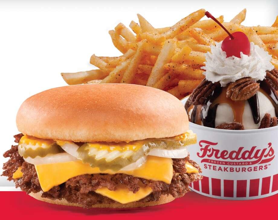 Combo meal from Freddy\'s Frozen Custard & Steakburgers.