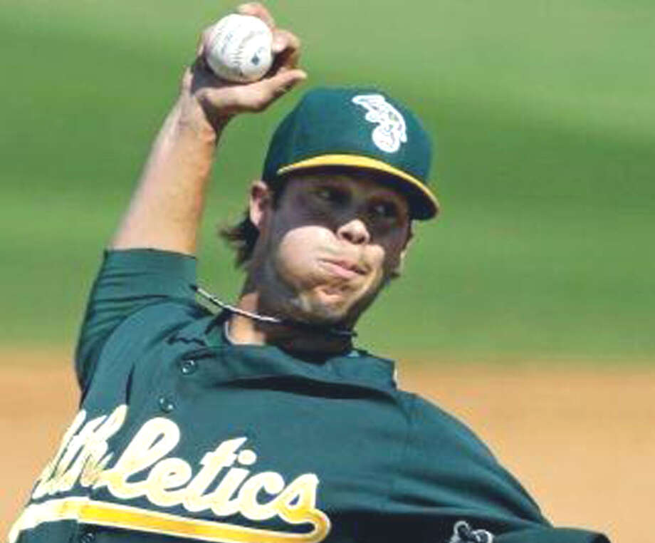 Evan Scribner of Washington is off to a strong start in the 2013 season with the Oakland Athletics.  Associated Press Photo: Contributed Photo