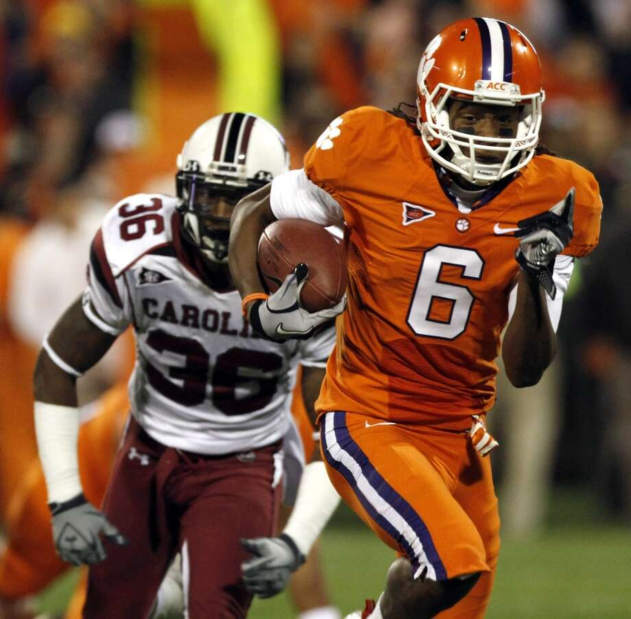 DeAndre Hopkins, Wide receiver, Clemson  John McClain, Houston Chronicle, April 22  Dane Brugler, CBSSports.com, April 22
