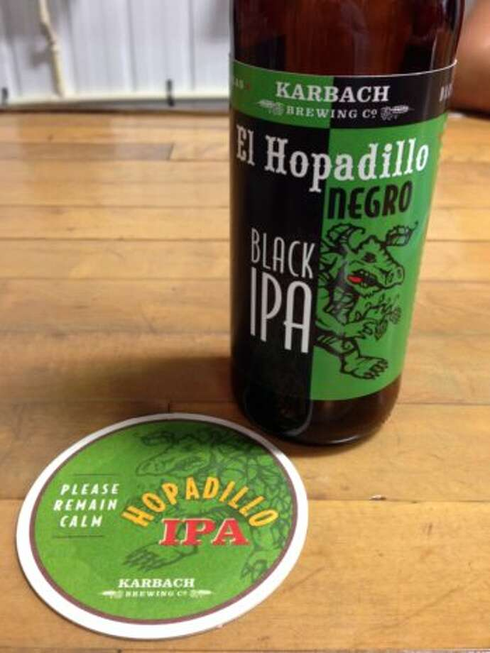El Hopadillo Negro, a black IPA, is one of two new Karbach beers on sale this week. Both will be available year-round, in 22-ounce bottles.
