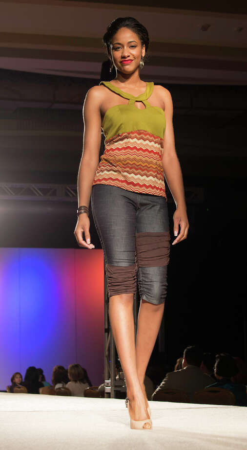 Designes by Genevieve Truscott at The Cutting Edge Fiesta Fashion Show at Marriott Rivercenter Hotel, Monday, April 22, 2013. Photo: J. MICHAEL SHORT, FOR THE EXPRESS-NEWS / THE SAN ANTONIO EXPRESS-NEWS