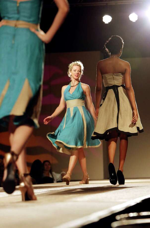 """""""A Heart's Desire"""" collection by Celia Alecozay, who was among the nine University of Incarnate Word students who presented six looks for the Cutting Edge Fiesta Fashion Show on Monday April 22, 2013. Photo: Helen L. Montoya, San Antonio Express-News / ©2013 San Antonio Express-News"""