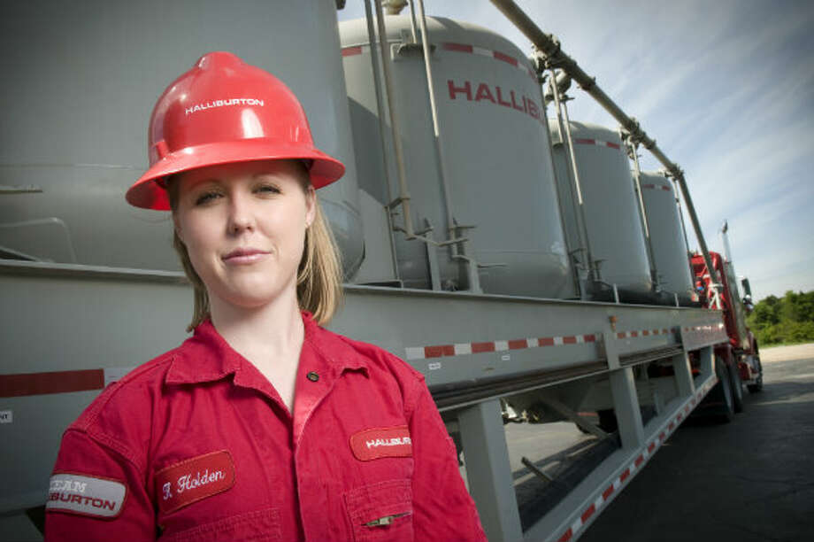 Kristin Holden, project advisor for cementing surface equipment at the Halliburton Technology Center in Duncan, Okla, is responsible for coordinating and managing all of the design projects in her department. She graduated from Oklahoma State University in 2007 with a Biosystems & Agricultural Engineering degree with a Mechanical option. She joined Halliburton as an associate technical professional, which is similar to an entry-level engineer. Photo: 	Halliburton