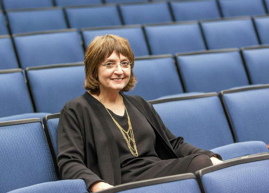 Dr. Helen Mayberg, an expert on deep brain stimulation for severe depression delivers a lecture to about 200 and receive an annual award in psychiatry at the Baylor College of Medicine. Location: Baylor College of Medicine, 1 Baylor Plaza, Texas Medical Center. Wednesday 4/17/13 (Craig H. Hartley/For the Chronicle) Photo: Craig Hartley, Freelance / Copyright: Craig H. Hartley