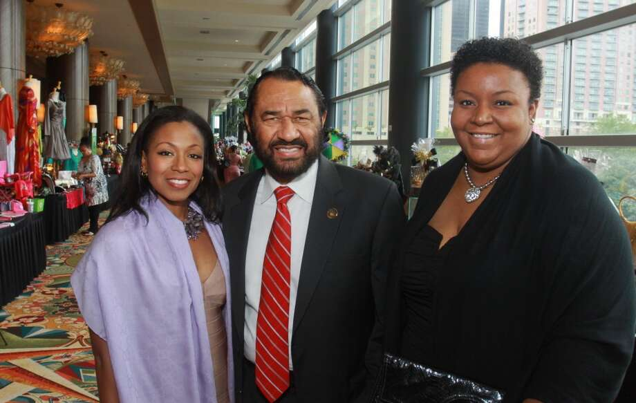 (For the Chronicle/Gary Fountain) Crystal Hadnott, from left Congressman Al Green and Nyree Norsworthy .