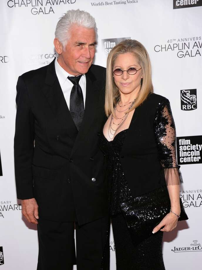 NEW YORK, NY - APRIL 22:  James Brolin (L) and Barbra Streisand attend the 40th Anniversary Chaplin Award Gala at Avery Fisher Hall at Lincoln Center for the Performing Arts on April 22, 2013 in New York City.  (Photo by Jamie McCarthy/Getty Images)
