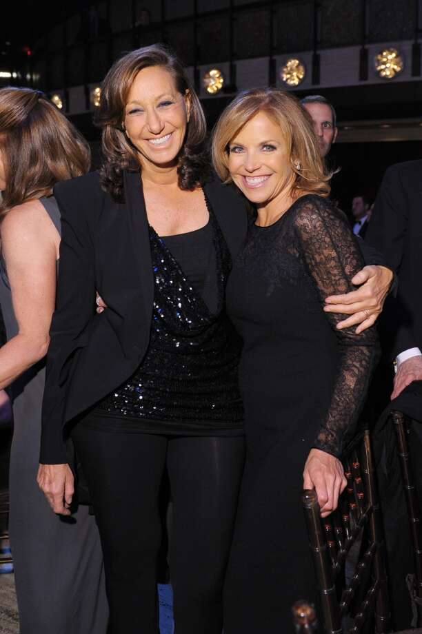 Donna Karan (L) and Katie Couric attend the 40th Anniversary Chaplin Award Gala at David Koch Theatre at Lincoln Center on April 22, 2013 in New York City.  (Photo by Michael Loccisano/Getty Images)