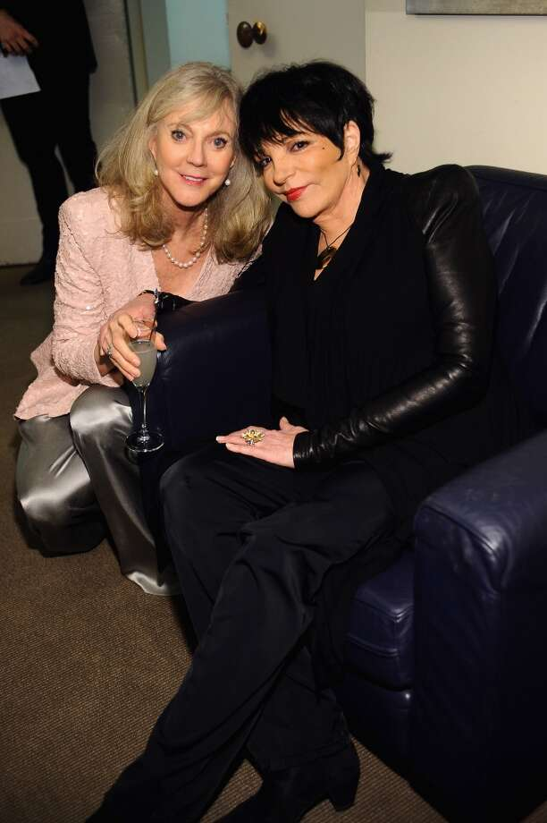 NEW YORK, NY - APRIL 22:  Actress Blythe Danner and Liza Minnelli attend the Grey Goose cocktail reception of The Film Society of Lincoln Center\'s 40th Chaplin Award Gala at Avery Fisher Hall, Lincoln Center on April 22, 2013 in New York City.  (Photo by Stefanie Keenan/Getty Images for GREY GOOSE)