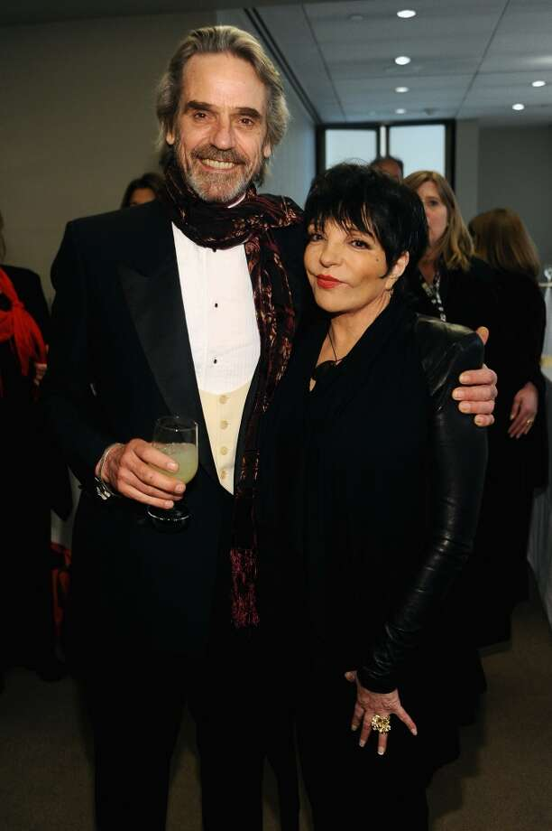 NEW YORK, NY - APRIL 22:  Actor Jeremy Irons and Liza Minnelli attend the Grey Goose cocktail reception of The Film Society of Lincoln Center\'s 40th Chaplin Award Gala at Avery Fisher Hall, Lincoln Center on April 22, 2013 in New York City.  (Photo by Stefanie Keenan/Getty Images for GREY GOOSE)