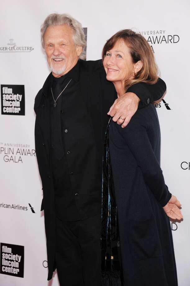 NEW YORK, NY - APRIL 22:  Kris Kristofferson (L) and Lisa Kristofferson attend the 40th Anniversary Chaplin Award Gala at Avery Fisher Hall at Lincoln Center for the Performing Arts on April 22, 2013 in New York City.  (Photo by Jamie McCarthy/Getty Images)