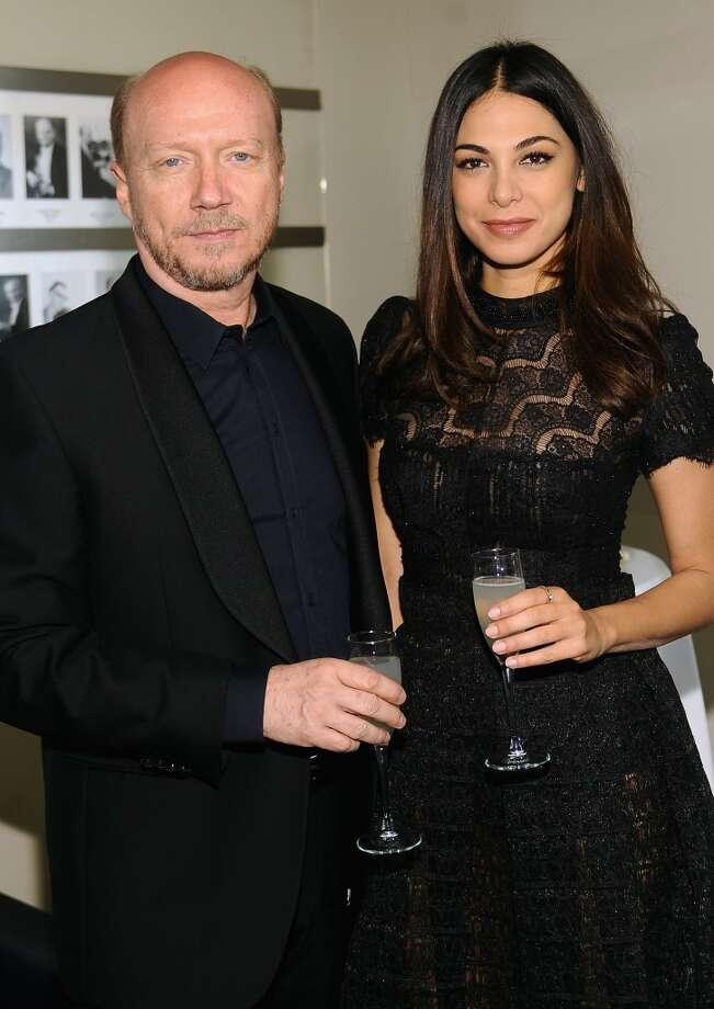 NEW YORK, NY - APRIL 22:  Director Paul Haggis (L) and Moran Atias attend the Grey Goose cocktail reception of The Film Society of Lincoln Center\'s 40th Chaplin Award Gala at Avery Fisher Hall, Lincoln Center on April 22, 2013 in New York City.  (Photo by Stefanie Keenan/Getty Images for GREY GOOSE)