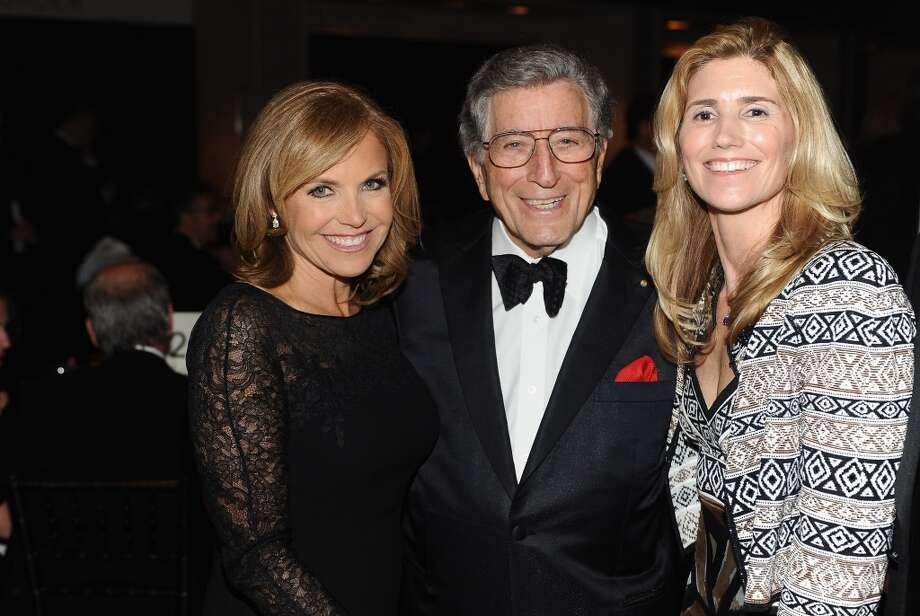 (L-R)  Journalist/TV personality Katie Couric, Tony Bennett and Susan Crow attend The Film Society of Lincoln Center\'s 40th Chaplin Award Gala supported by Grey Goose vodka at Avery Fisher Hall, Lincoln Center on April 22, 2013 in New York City.  (Photo by Stefanie Keenan/Getty Images for GREY GOOSE)