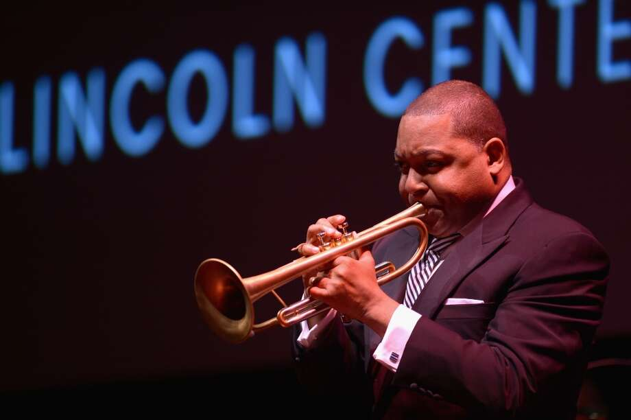 NEW YORK, NY - APRIL 22:  (EXCLUSIVE ACCESS SPECIAL RATES APPLY) Musician Wynton Marsalis performs at the 40th Anniversary Chaplin Award Gala at Avery Fisher Hall at Lincoln Center for the Performing Arts on April 22, 2013 in New York City.  (Photo by Michael Loccisano/Getty Images)