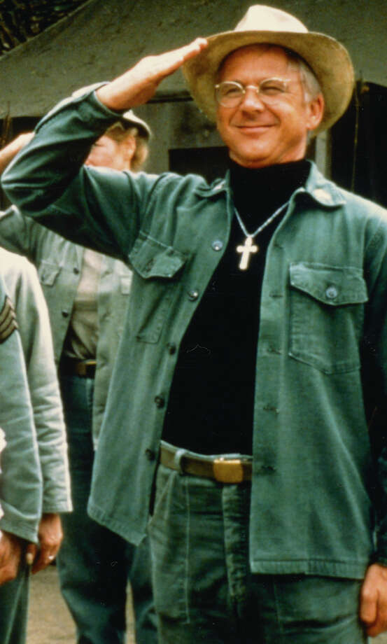 """William Christopher saluting in a publicity still issued for the television series """"M*A*S*H,"""" circa 1975. The medical comedy starred Alan Alda as """"Captain Benjamin Franklin 'Hawkeye' Pierce,"""" David Ogden Stiers as """"Charles Emerson Winchester III,"""" Jamie Farr as """"Maxwell Klinger"""" and Christopher as """"Father Mulcahy."""" Photo: Silver Screen Collection, Getty Images / Moviepix"""
