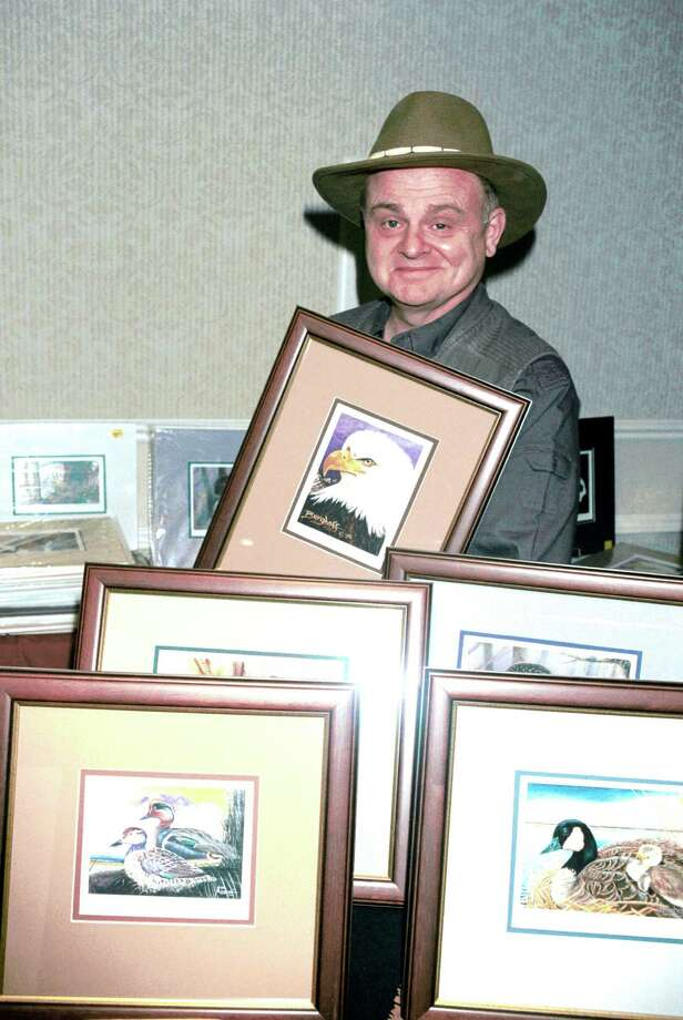 Gary Burghoff is a renowned wildlife painter, launched a chain of ice cream/frozen yogurt stores in Hawaii in the late 1970s and holds several patents on fishing lures, according to Internet Movie Database. Here, he poses with paintings at the Hollywood Collectors and Celebrities Show on April 7, 2001 in North Hollywood, Calif. Photo: Getty Images / Getty Images North America